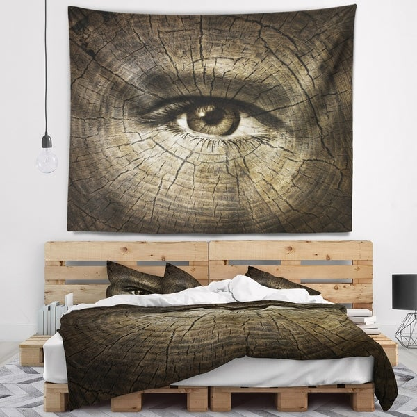 Designart 'Aging Eyes' Abstract Wall Tapestry