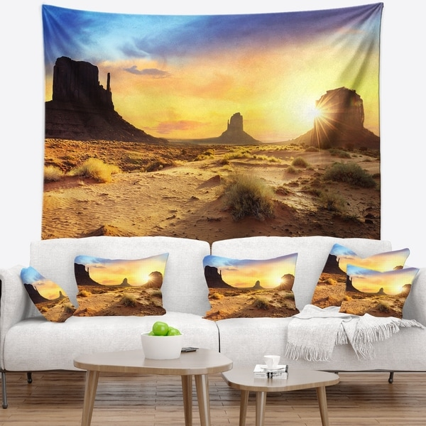 Designart 'Monument Valley Landscape' Photography Wall Tapestry