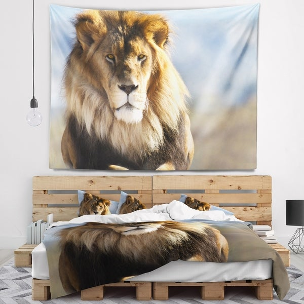 Designart TAP12961-60-50 Fierce Face of King of The Wild Wall Tapestry Large//60 x 50
