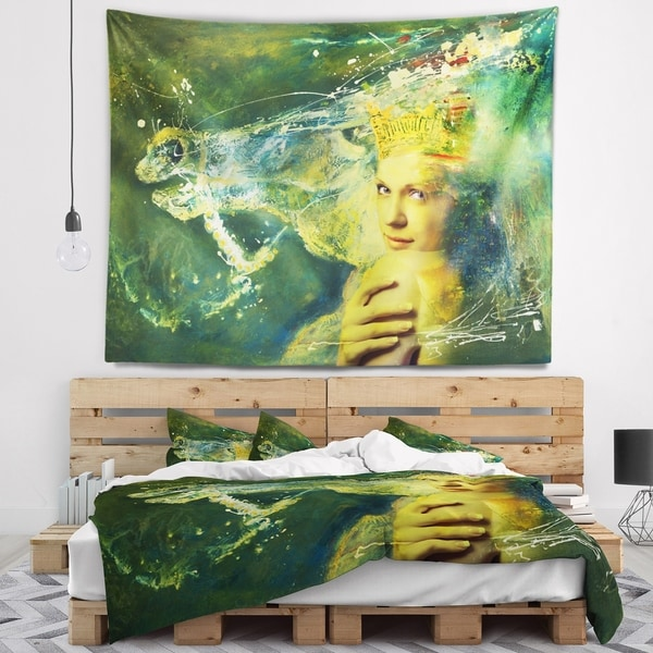 Designart 'Thoroughbred Horse and Woman' Animal Wall Tapestry
