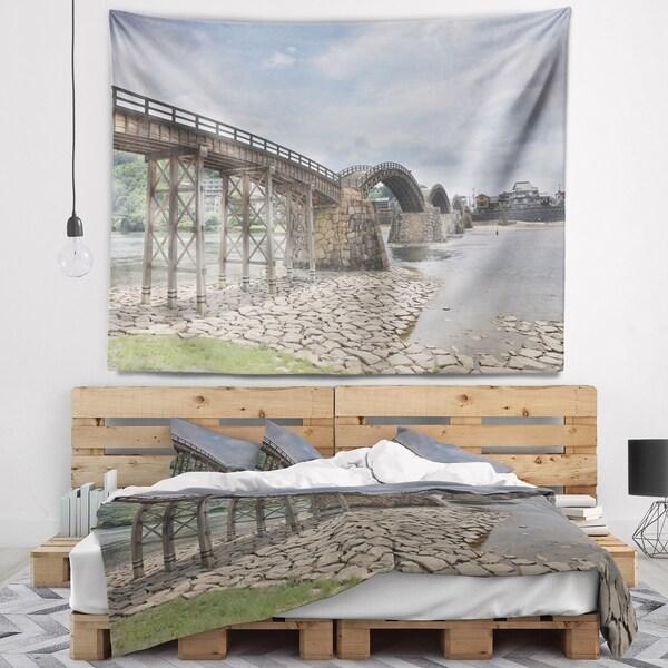 Designart 'Kintai Bridge in Iwakuni Yamaguchi' Landscape Wall Tapestry