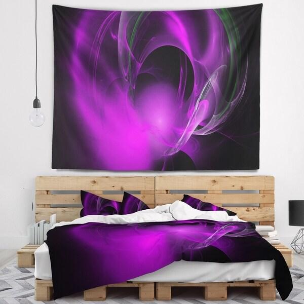 Designart 'Purple Fractal Galactic Nebula' Abstract Wall Tapestry
