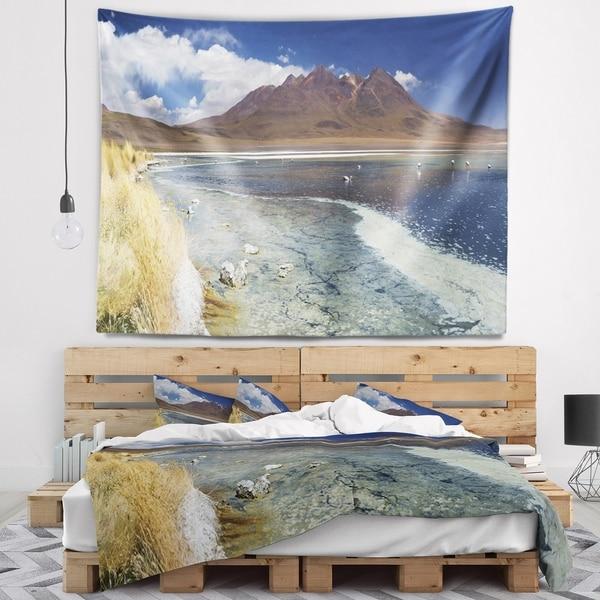 Designart 'Desert Lake Laguna Canapa on Sunny Day' Modern Seashore Wall Tapestry