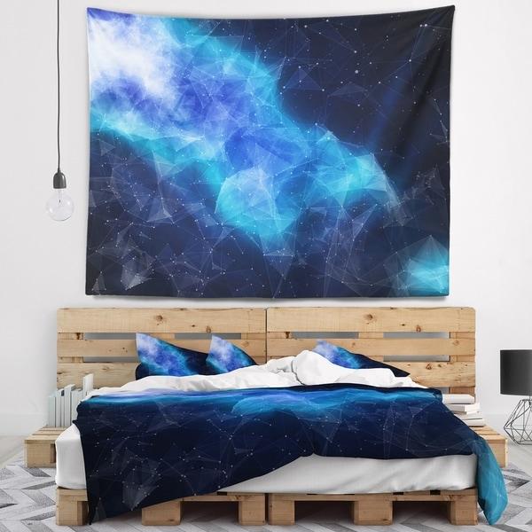 Designart 'Blue Nebula in Cosmos' Contemporary Wall Tapestry
