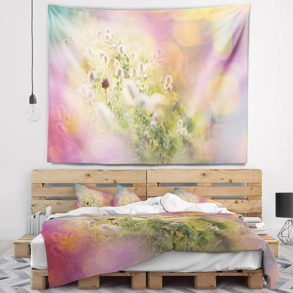 Designart 'Cute Little Summer Flowers' Flower Wall Tapestry