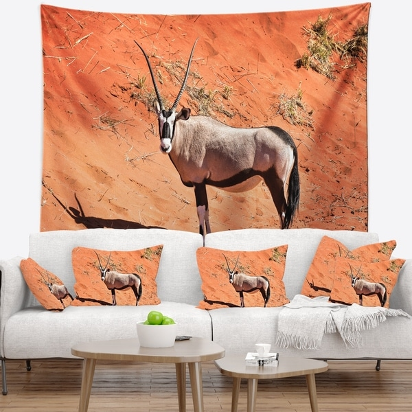 Designart 'Large Oryx in Bright Namib Desert' Animal Wall Tapestry
