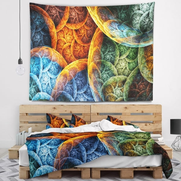 Designart 'Vibrant Colorful Clouds' Abstract Wall Tapestry