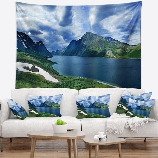 Designart 'Polar Ural Mountains Panorama' Landscape Wall Tapestry