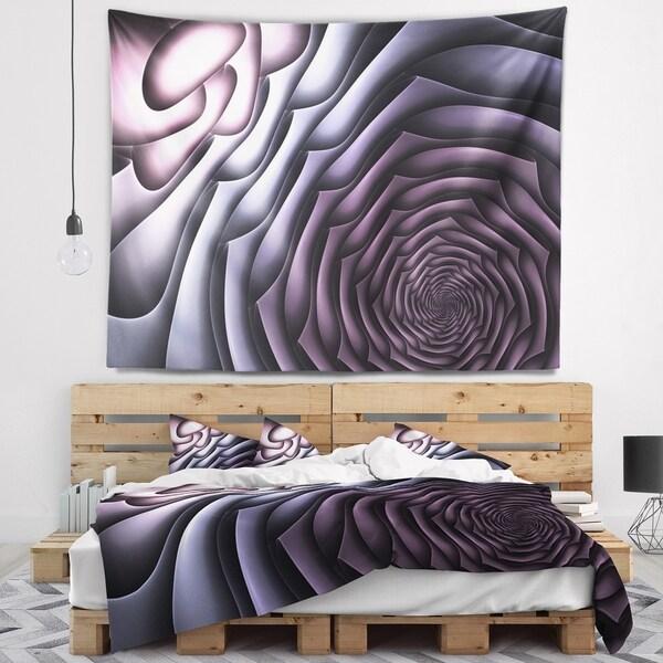 Designart 'Purple Flower Shaped Fractal Art' Abstract Wall Tapestry