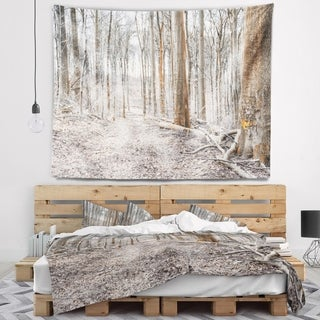 Designart 'Dense Forest in the Winter Photography' Modern Forest Wall Tapestry (4 options available)
