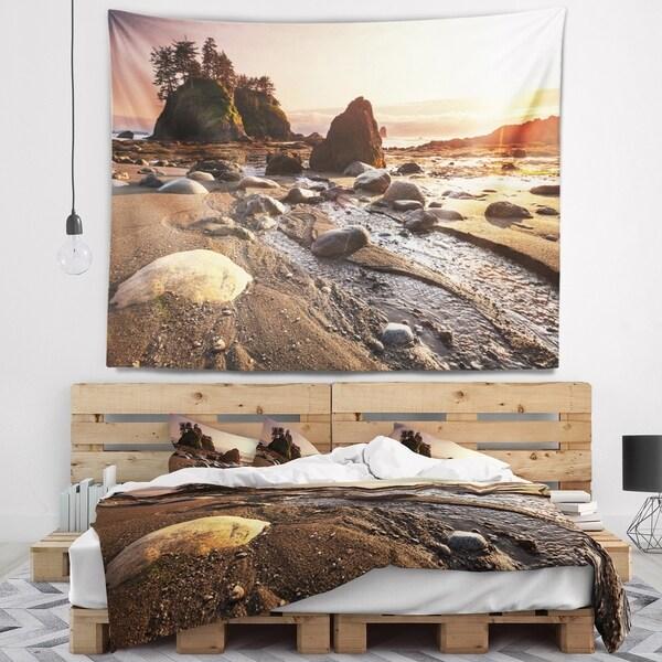 Designart 'Olympic National Park Coast' Seashore Wall Tapestry
