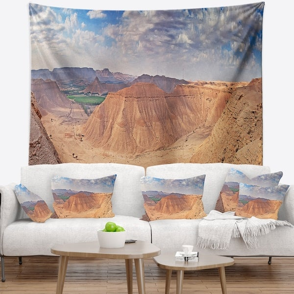 Designart TAP15336-39-32  Clay Rocks Around Riyadh City Landscape Blanket D/écor Art for Home and Office Wall Tapestry Medium x 32 in 39 in in