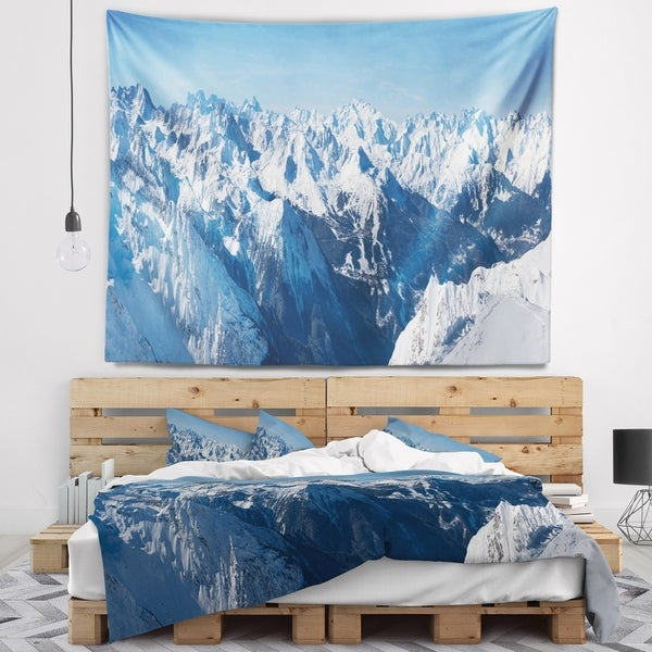 Designart 'French Alps Panorama' Photography Wall Tapestry