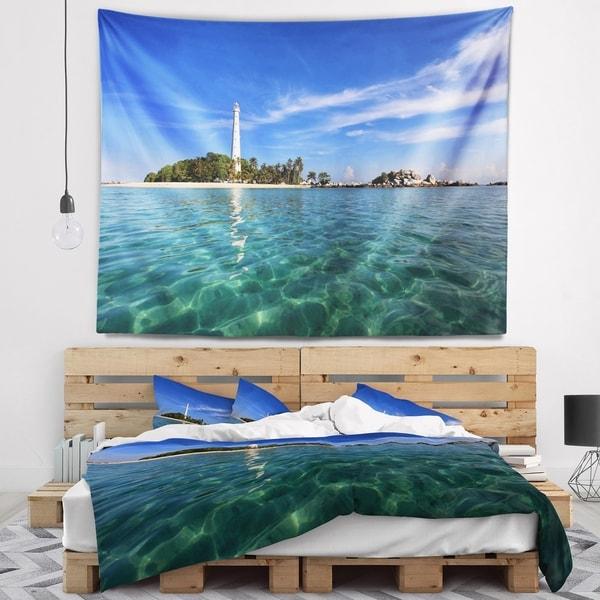 Designart 'Lengkuas Island Indonesia' Seascape Wall Tapestry