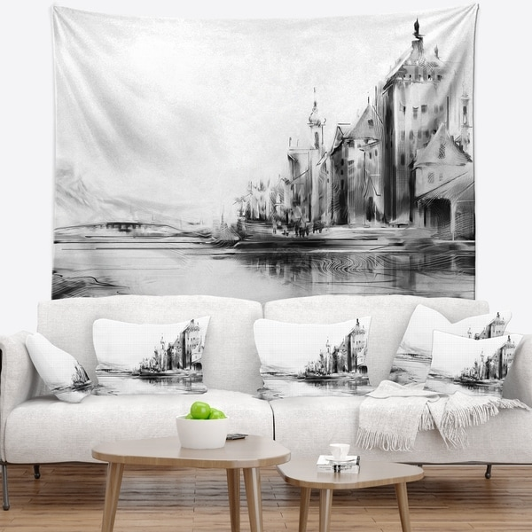 Designart 'Zurich in Afternoon Sunlight' Cityscape Wall Tapestry
