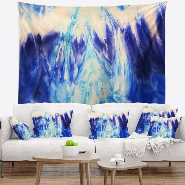 Designart 'Blue Life' Abstract Wall Tapestry