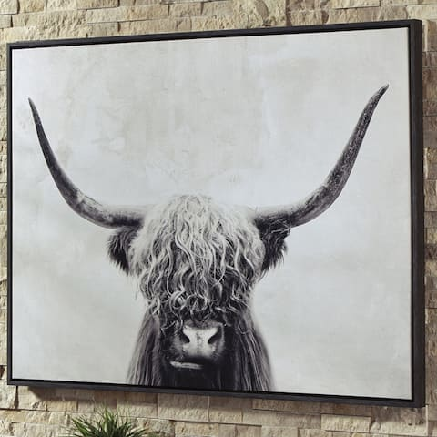 Pancho Framed Highland Cow Wall Art