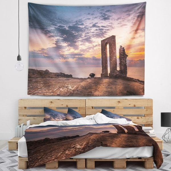 Designart 'Historic African Ruins at Sunset' Landscape Wall Tapestry