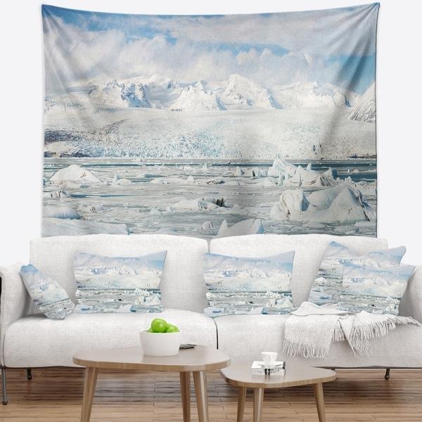Designart 'Vatnajokull Glacier in Iceland' Landscape Wall Tapestry