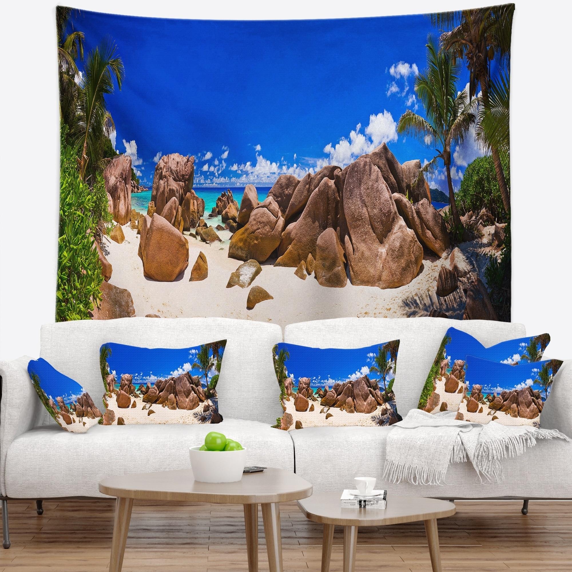 Designart Rocky Tropical Beach Panorama Landscape Small Ebay