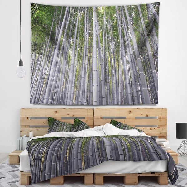 Designart 'Thick Bamboo Trunks in Japan' Forest Wall Tapestry