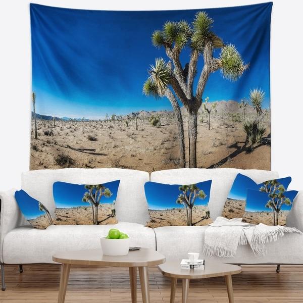 Designart 'Joshua Tree in Open Desert' Landscape Wall Tapestry