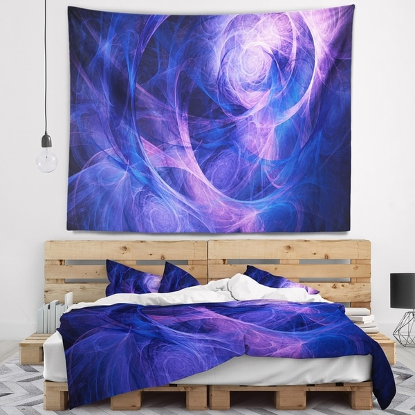 Designart 'Bright Blue Stormy Sky' Abstract Wall Tapestry