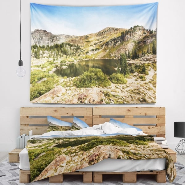Designart 'Secret Lake at Albion Basin' Landscape Photography Wall Tapestry