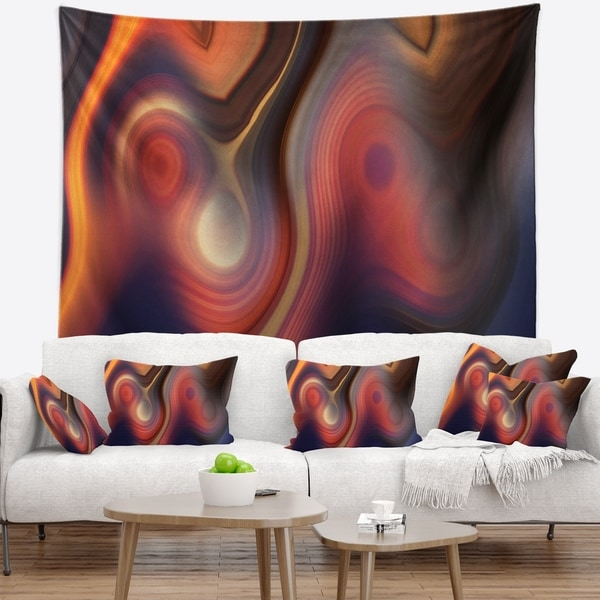 Designart 'Beautiful Texture of Colors' Abstract Wall Tapestry