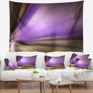 Designart 'Bright Purple Shade Upward' Abstract Wall Tapestry