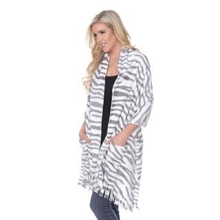 White Mark Womens Tiger Shawl