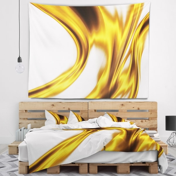 Designart 'Bright Gold Texture Pattern' Abstract Wall Tapestry