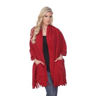 White Mark Womens Red Shawl