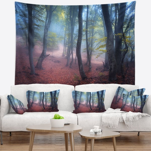 Designart 'Mysterious Fairytale Green Wood' Landscape Photography Wall Tapestry