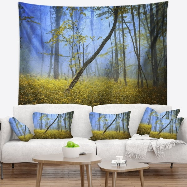 Designart 'Vintage Style Colorful Forest' Landscape Photography Wall Tapestry
