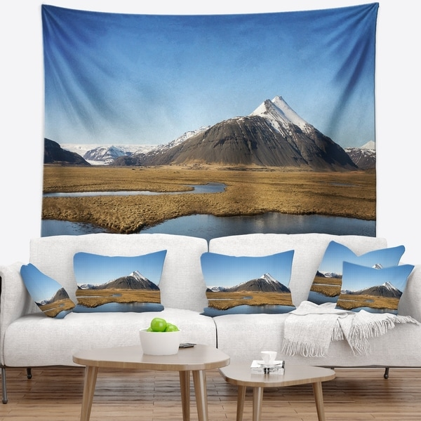 Designart 'Scenic Southern Iceland' Landscape Photography Wall Tapestry