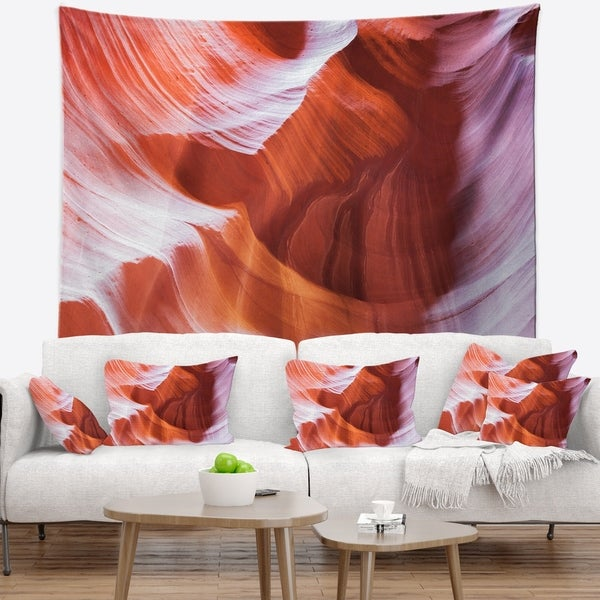 Designart 'Antelope Canyon Brown Wall' Landscape Photography Wall Tapestry