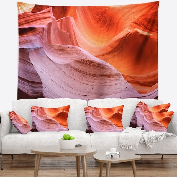 Designart 'Color Layers in Antelope Canyon' Landscape Photography Wall Tapestry
