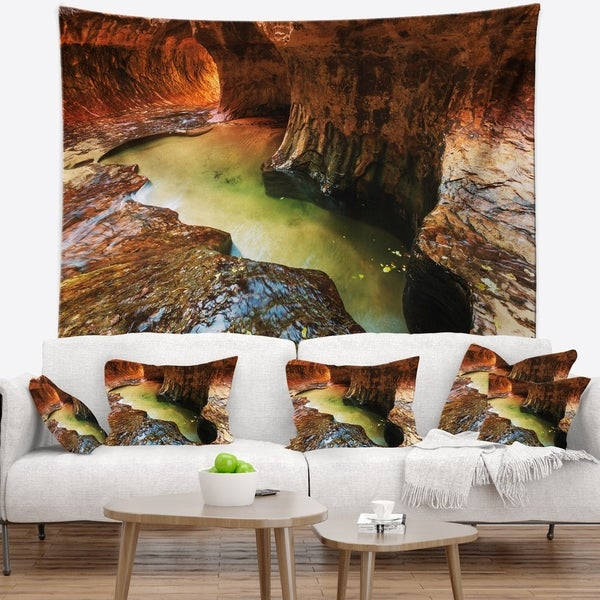 Designart 'Narrows in Zion National Park Utah' Landscape Wall Tapestry