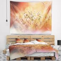 Designart 'Wild Flowers on Light Background' Floral Wall Tapestry