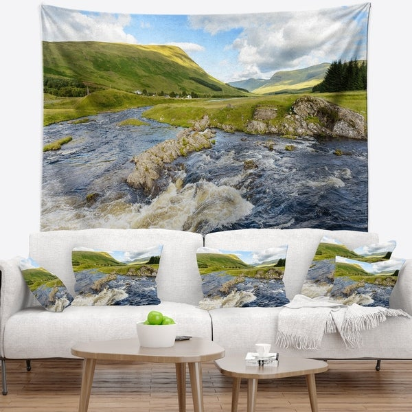 Designart 'Publi and River Lyon' Landscape Photography Wall Tapestry