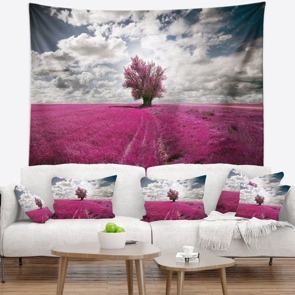 Designart 'Purple Tree Dreamscape' Landscape Photography Wall Tapestry