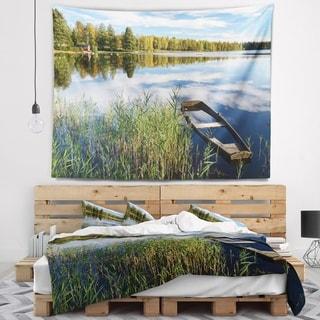 Designart 'Beautiful Swedish September Lake' Landscape Photography Wall Tapestry