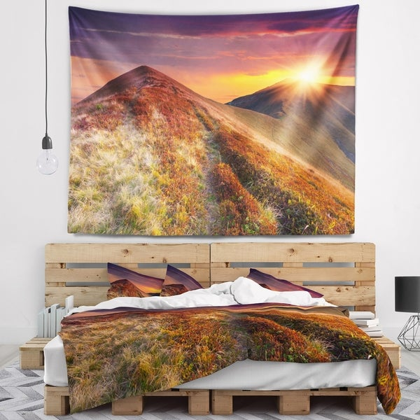 Designart 'Autumn Hills with Colorful Grass' Landscape Photography Wall Tapestry