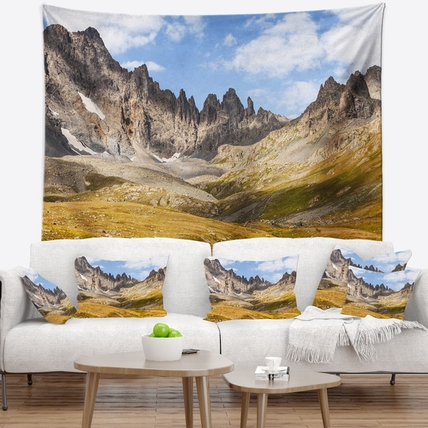 Designart 'Hills and Valleys in Golden Morning' Landscape Photography Wall Tapestry