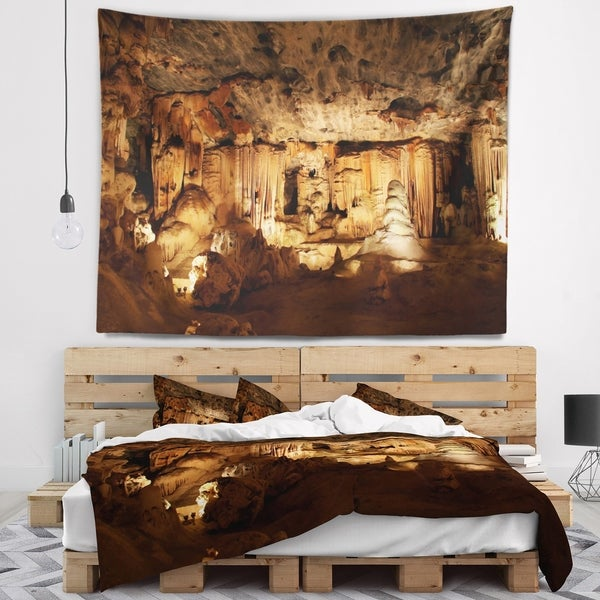Designart 'Dark Cango Caves South Africa' African Landscape Wall Tapestry