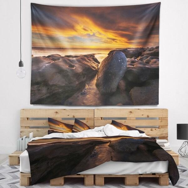 Designart 'La Perhouse Beach Sydney' Seascape Wall Tapestry