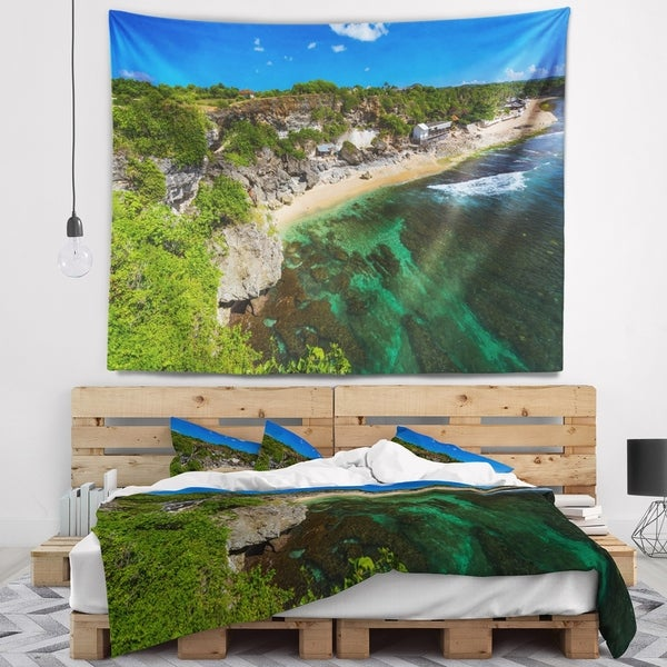 Designart 'Balangan Beach Bali Indonesia' Seascape Wall Tapestry