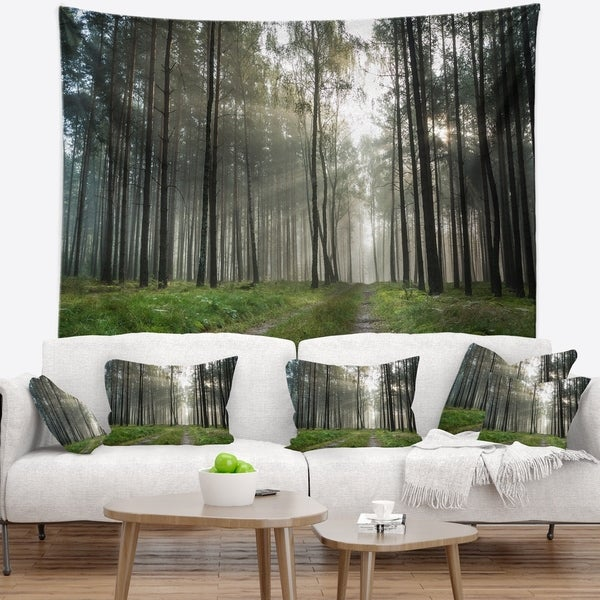 Designart 'Discontinued product' Modern Forest Wall Tapestry