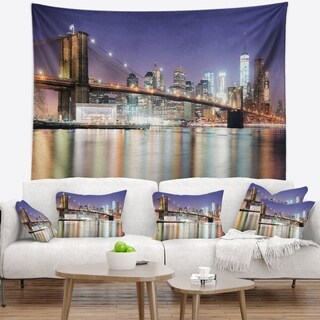 Designart 'New York City with Freedom Tower' Cityscape Wall Tapestry